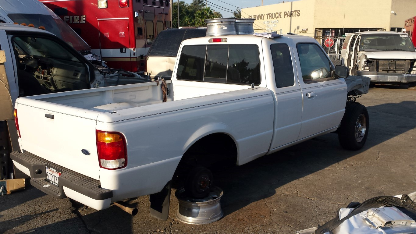 White truck bed ford ranger