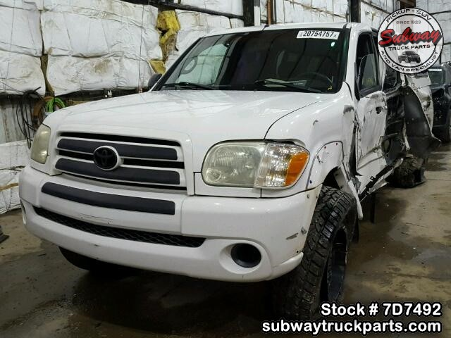 Used Parts 2005 Toyota Tundra Sr5 4 7l V8 4x4 Subway Truck Parts Inc Auto Recycling Since 1923