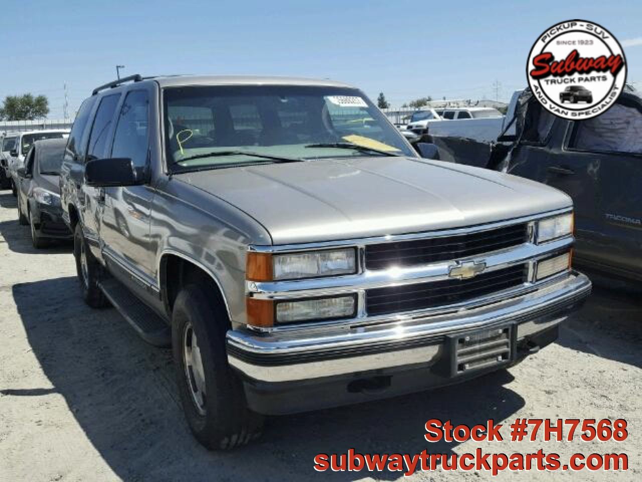 Used Parts 1999 Chevrolet Tahoe Lt 5 7l 4x4 Subway Truck