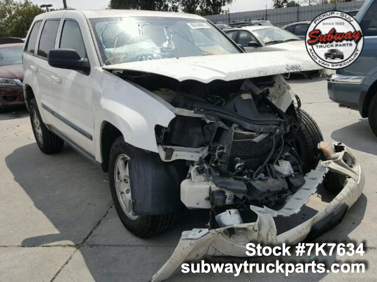 Used 2008 Jeep Grand Cherokee Laredo 3 7l Parts Subway Truck Parts