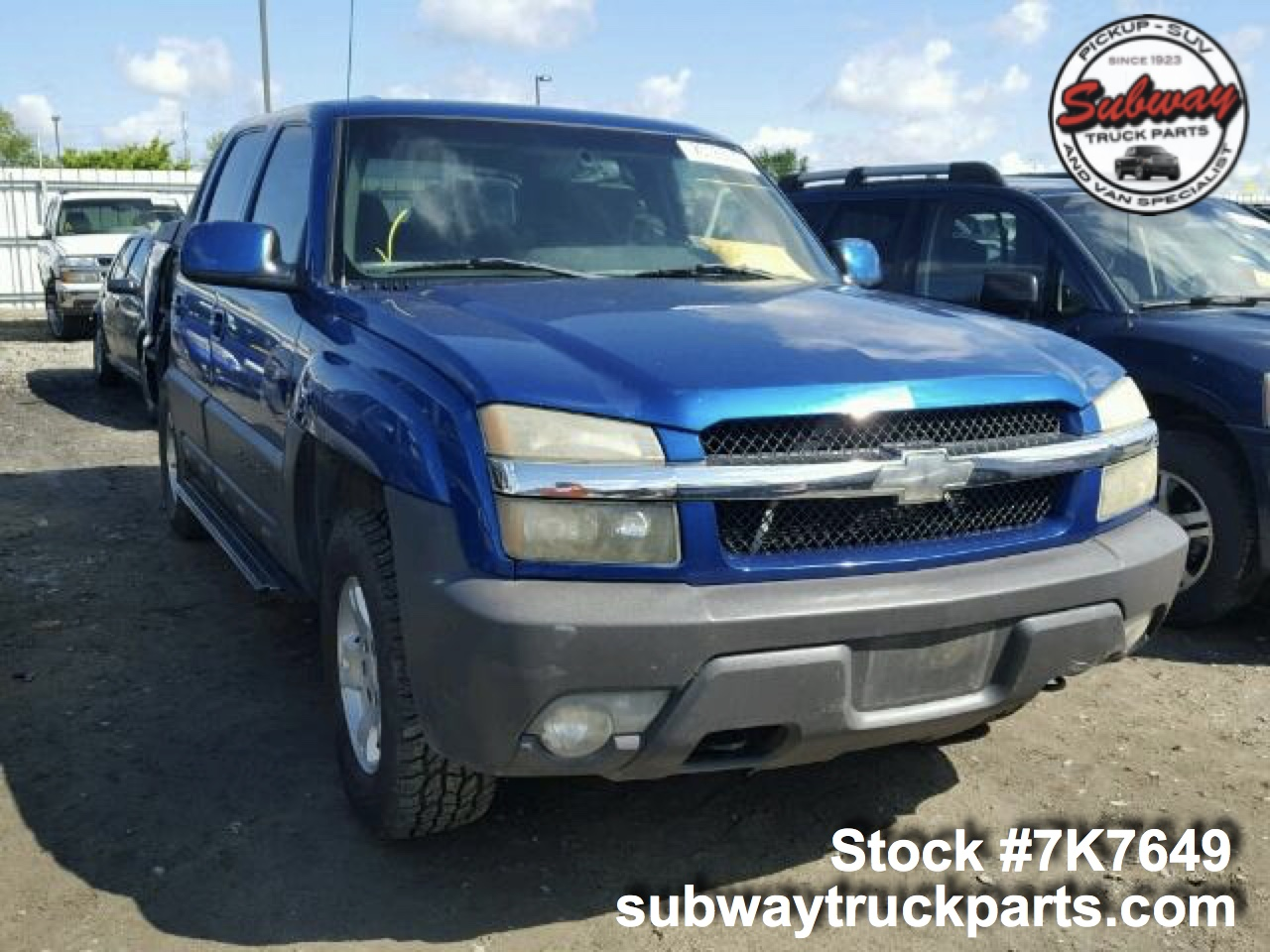 Used Parts 2003 Chevrolet Avalanche 1500 5 3l 4x2 Subway