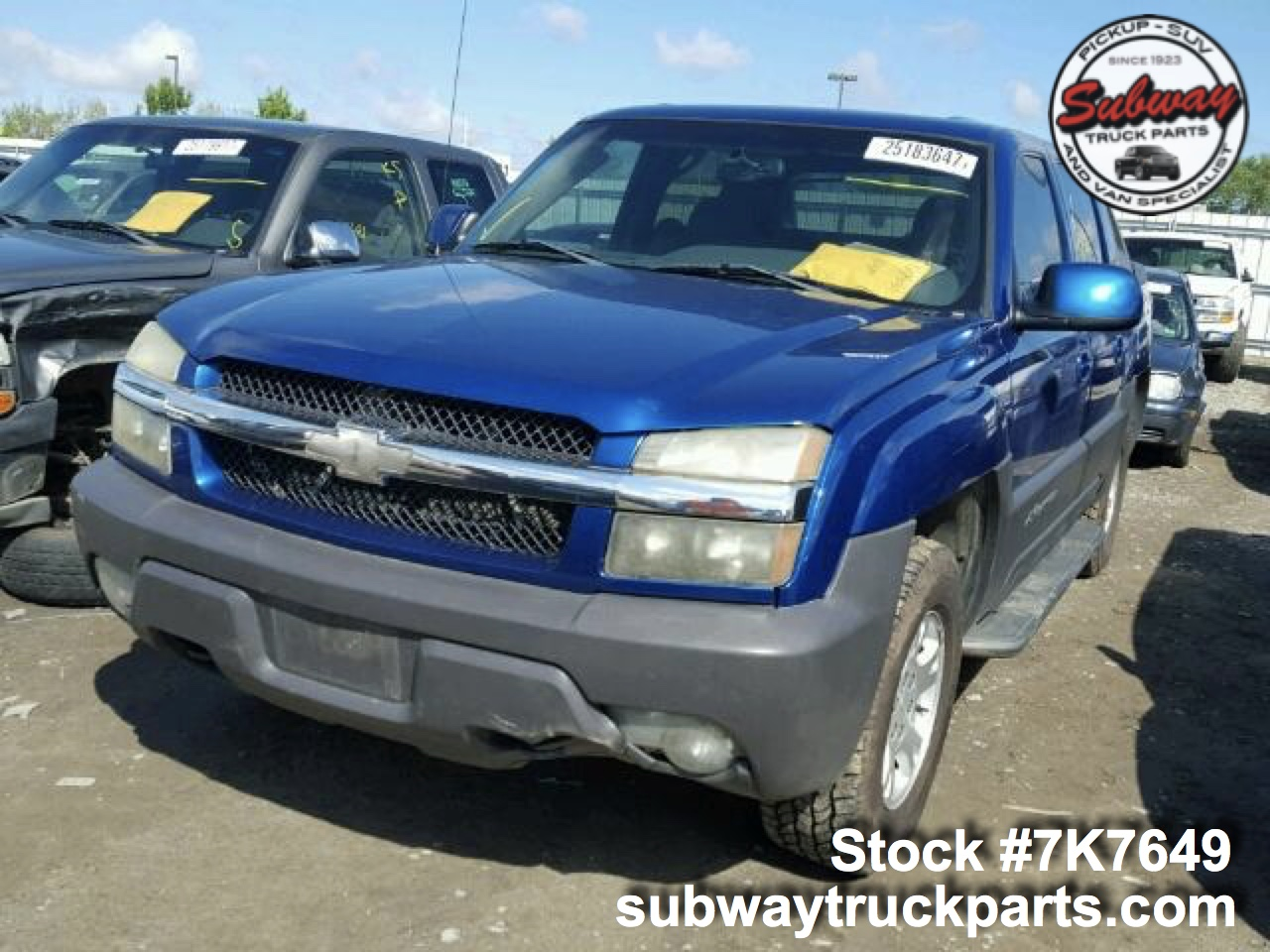 Pro 4x Frontier >> Used Parts 2003 Chevrolet Avalanche 1500 5.3L 4x2 | Subway Truck Parts