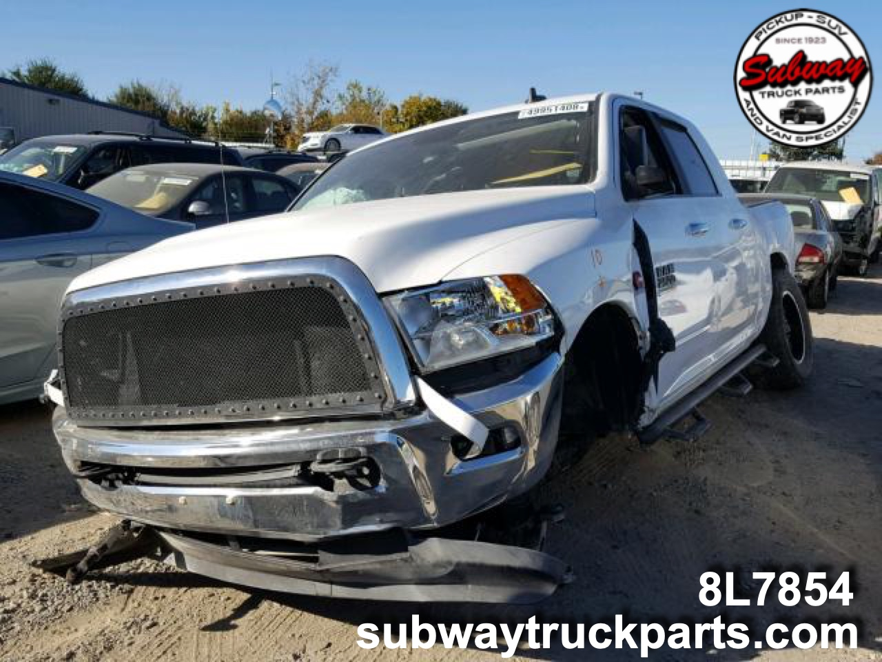 Used Parts 2016 Dodge Ram 2500 Mega Cab 67l 4x4 Subway Truck Windshjeld 04 Jeep Liberty Fuse Diagram For Washer 1 10